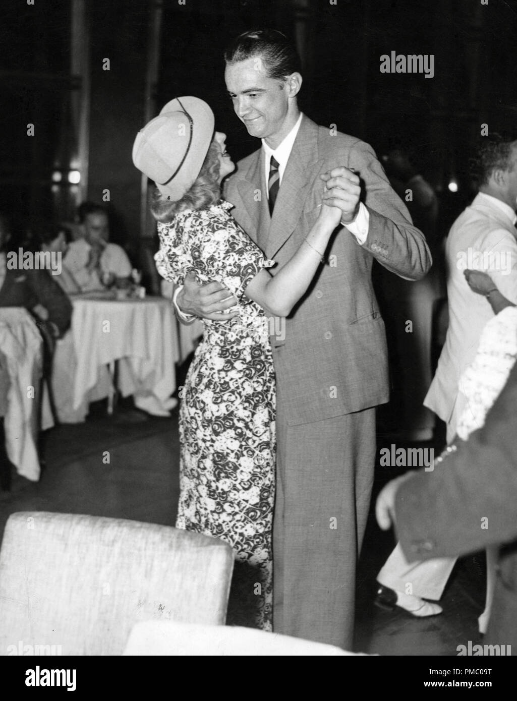 Ginger Rogers and Howard Hughes at the Rainbow Room in New York City, 1936   File Reference # 33480_940THA - Stock Image