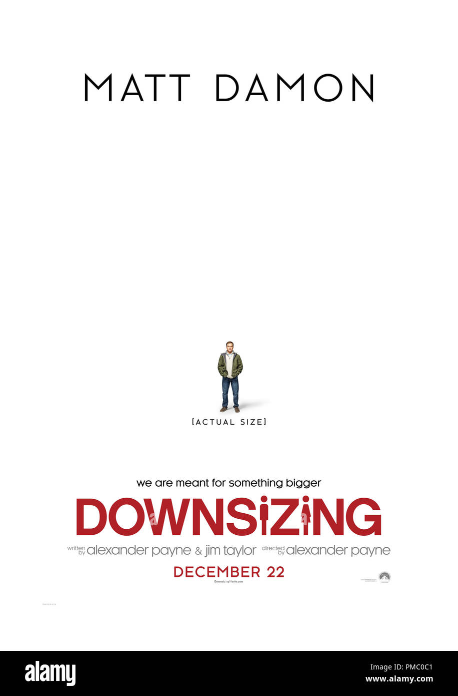 'Downsizing' (2017) Paramount Pictures Poster - Stock Image