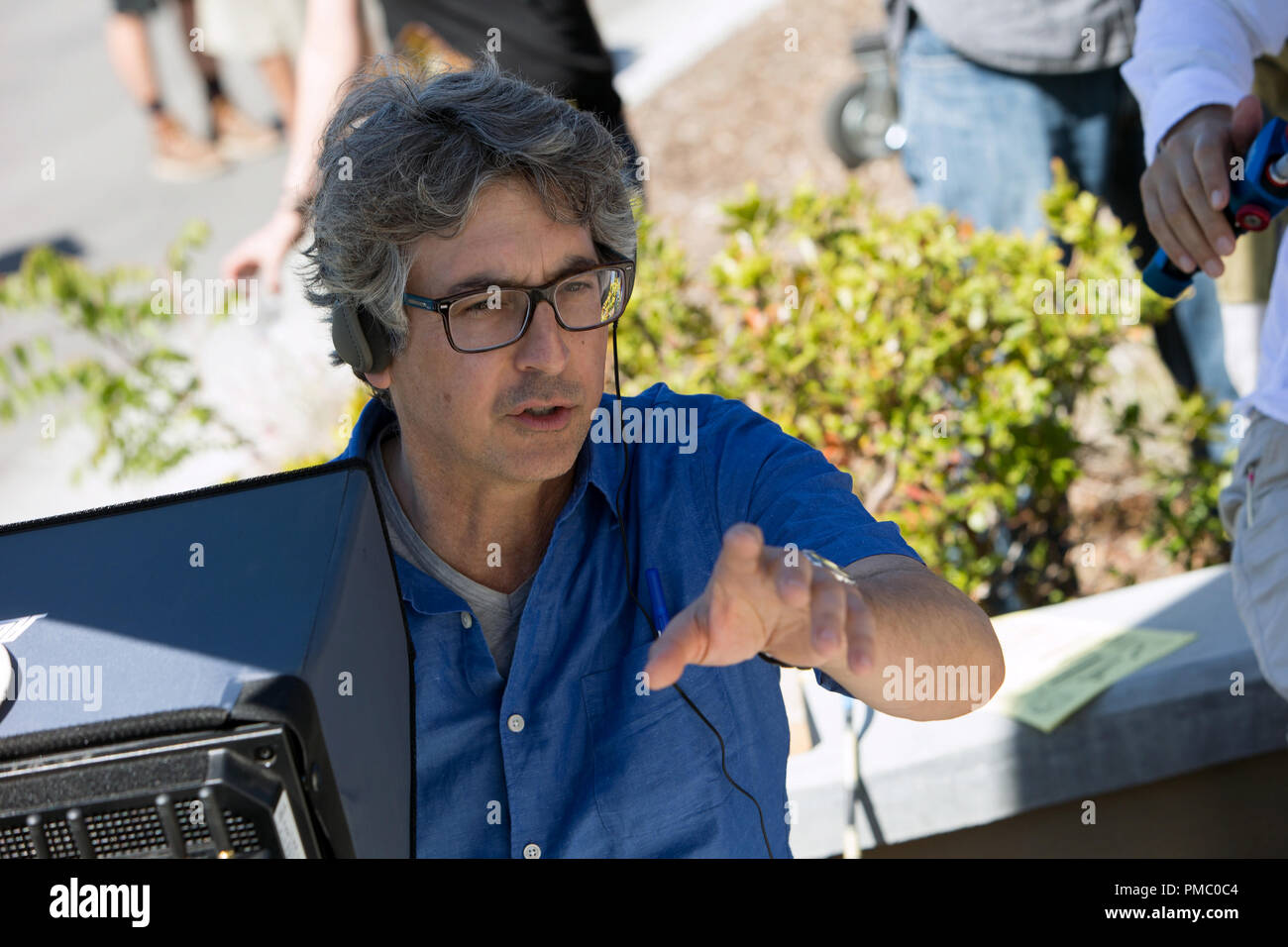 Alexander Payne on the set of Downsizing from Paramount Pictures. (2017) - Stock Image