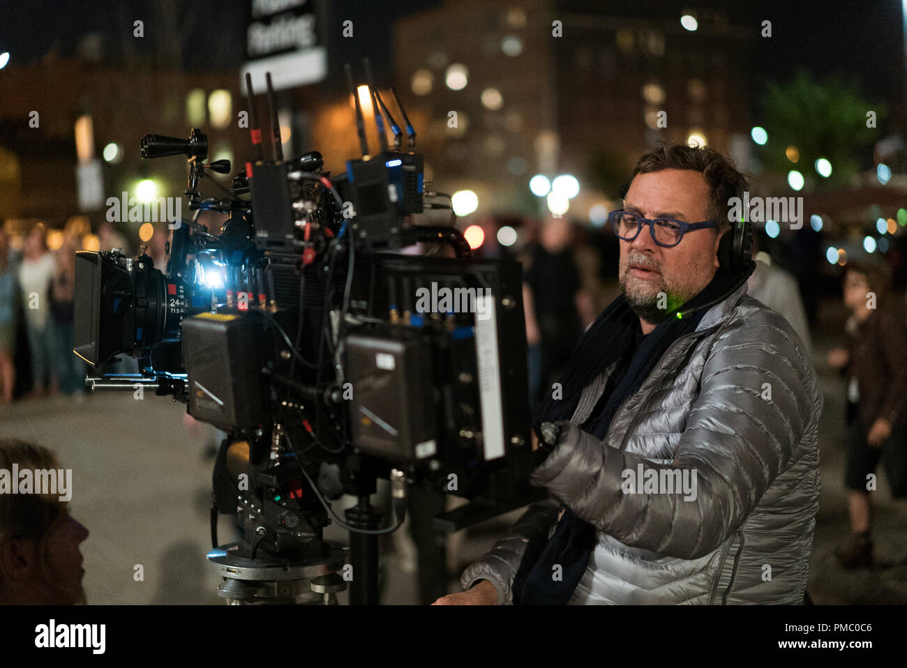 Director of Photography Phedon Papamichael on the set of Downsizing from Paramount Pictures. (2017) - Stock Image
