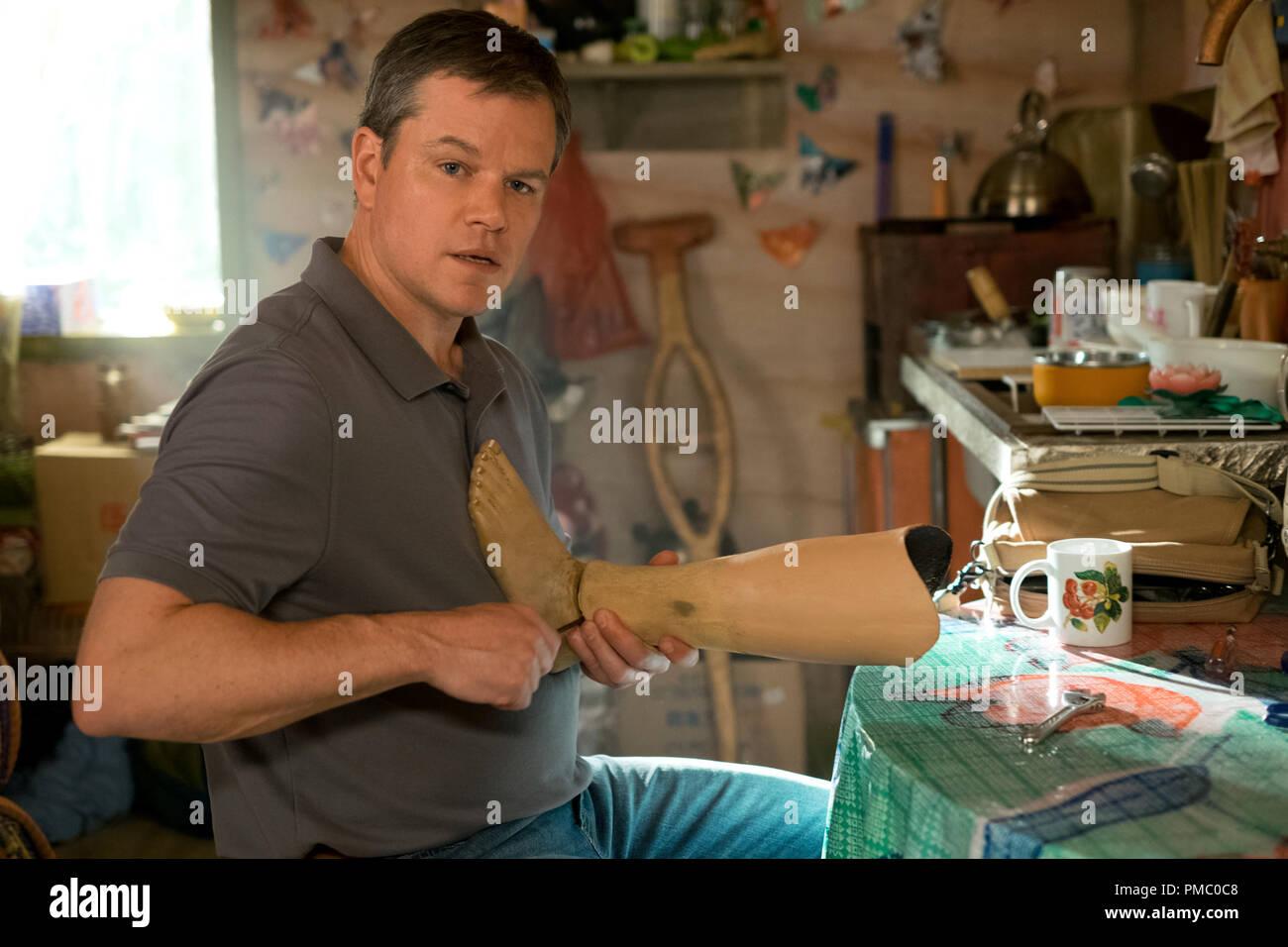 Matt Damon plays Paul Safranek in Downsizing from Paramount Pictures. (2017) - Stock Image