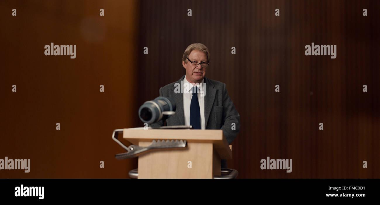 Rolf Lassgard plays Dr. Jorgen Asbjørnsen in Downsizing from Paramount Pictures. (2017) - Stock Image