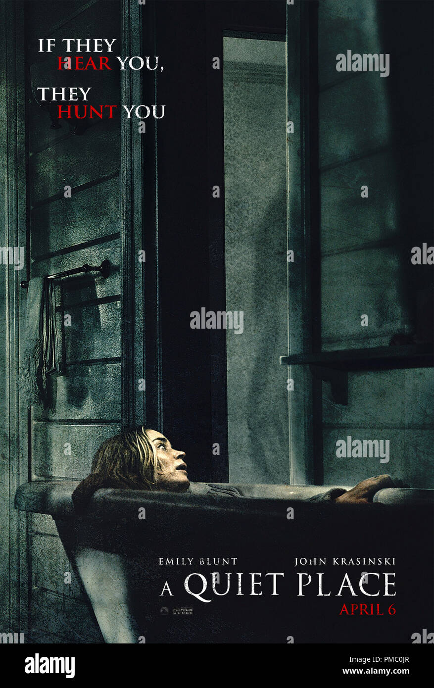 A Quiet Place 2018 Paramount Pictures Poster Stock Photo Alamy