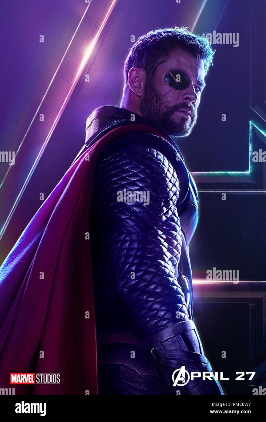 Avengers Infinity War 2018 Marvel Studios Poster Stock Photo Alamy