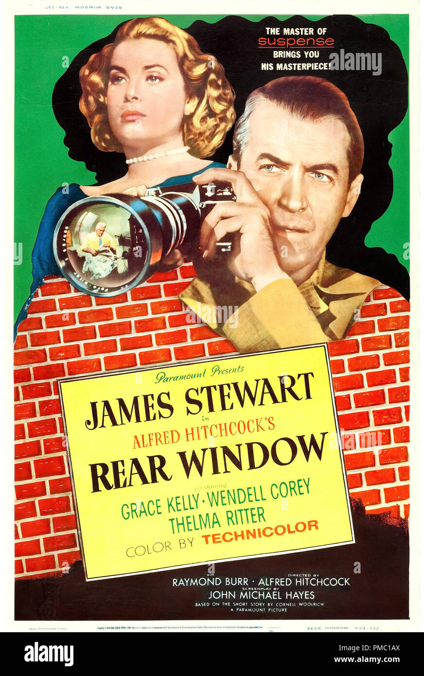 James Stewart,  Rear Window (Paramount, 1954). Poster File Reference  # 33595_316THA - Stock Image