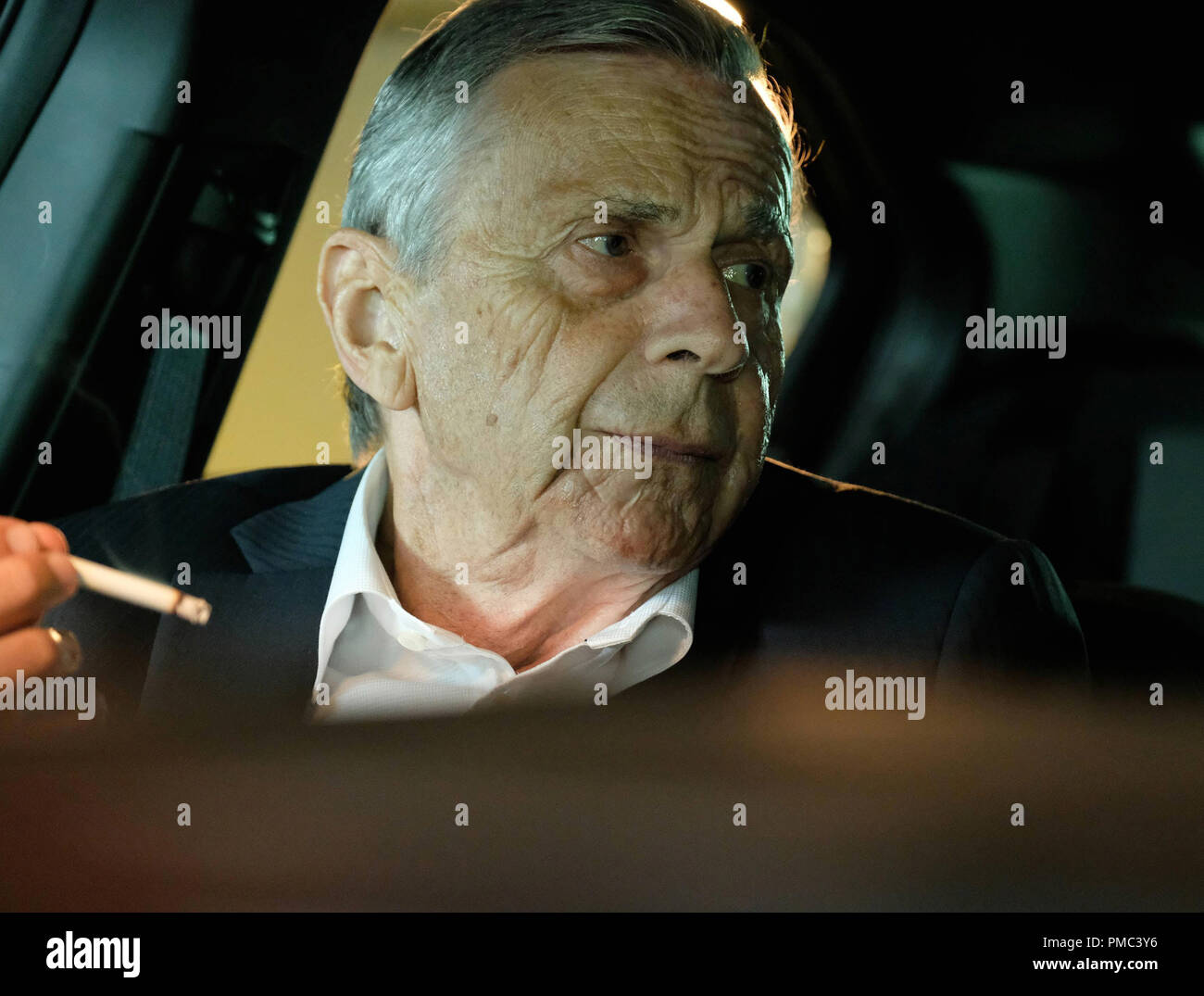 THE X-FILES:  Guest star William B. Davis in the 'My Struggle III' season premiere episode of THE X-FILES on Fox. © 2018 Fox Broadcasting Co. Cr: Robert Falconer/Fox - Stock Image