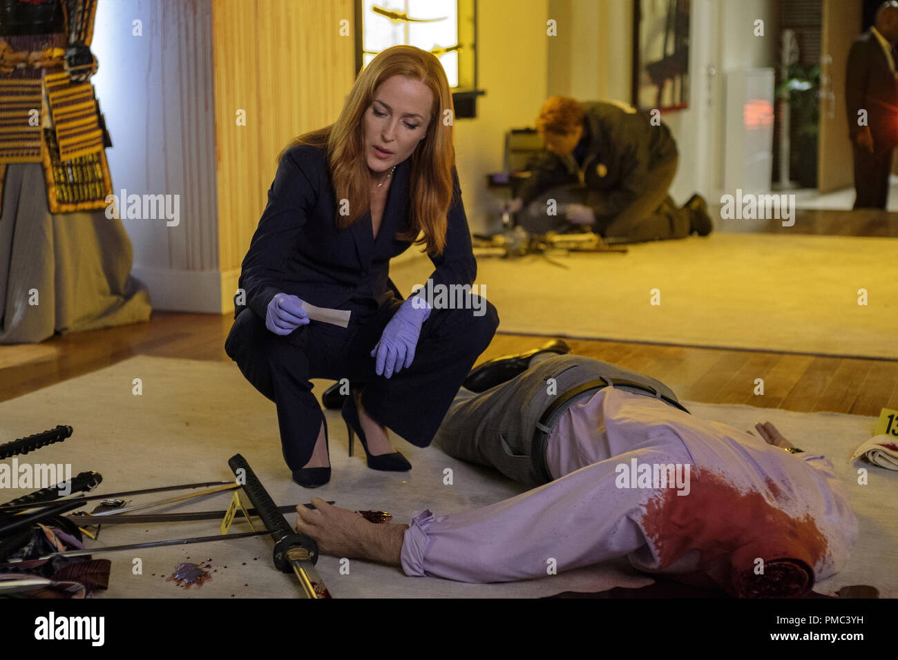 THE X-FILES:  Gillian Anderson in the 'Plus One' episode of THE X-FILES on Fox. © 2018 Fox Broadcasting Co. Cr:  Shane Harvey/Fox - Stock Image
