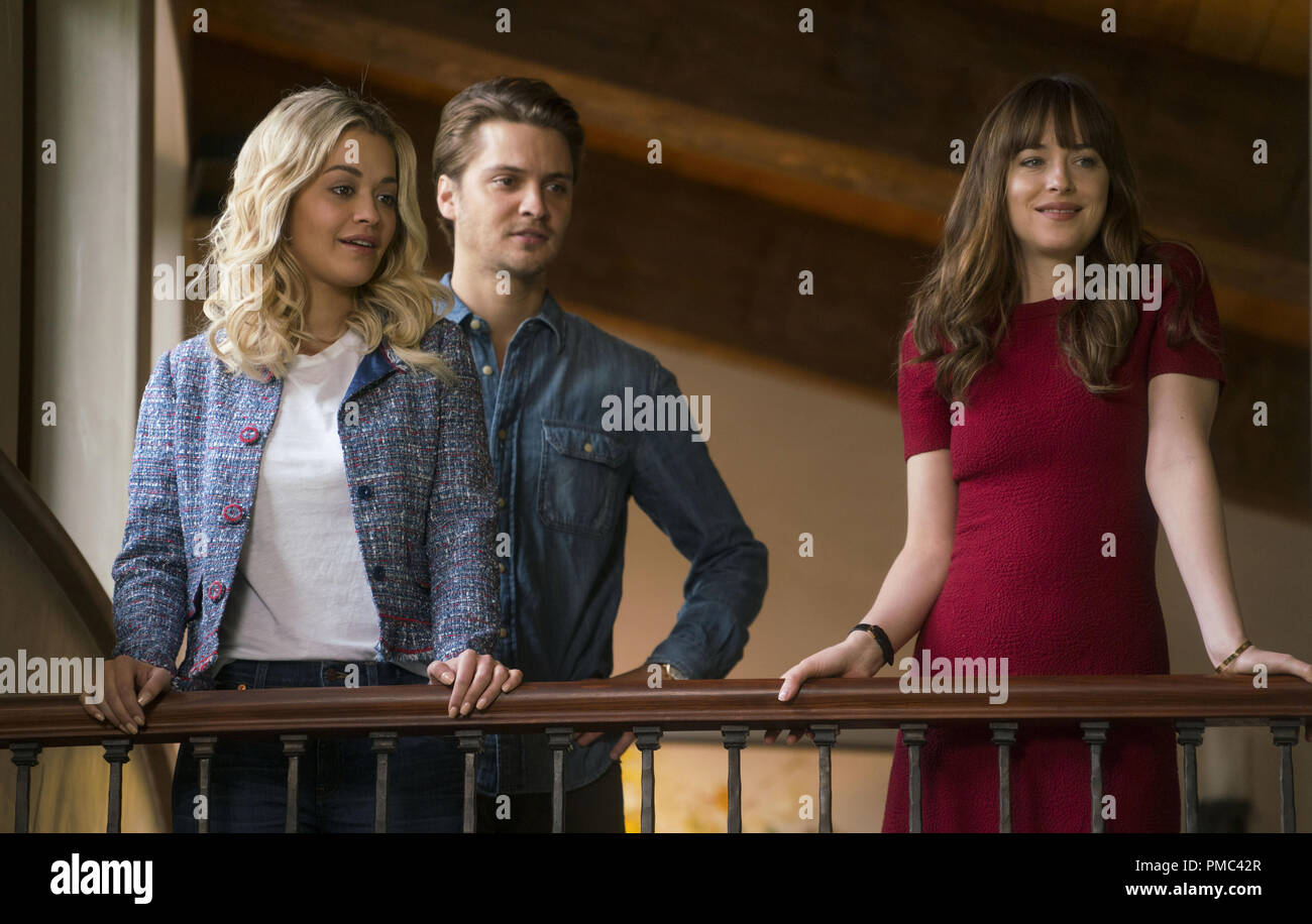 L To R Grey Rita Ora Elliot Grey Luke Grimes And Steele Dakota Johnson In Fifty Shades Freed The Climactic Chapter Based On The