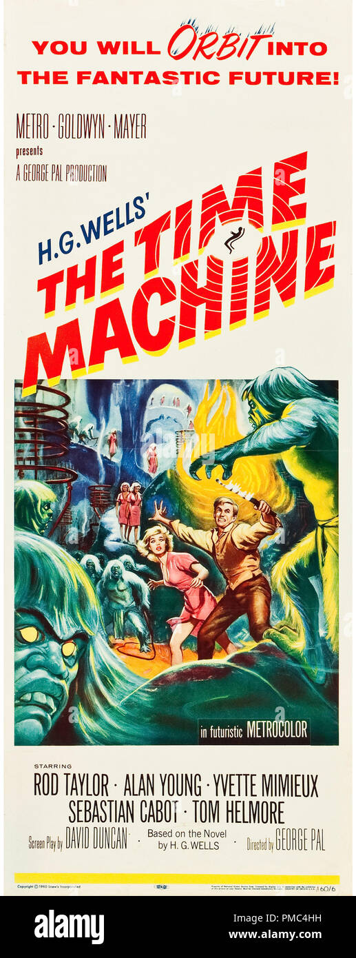 Rod Taylor,  The Time Machine (MGM, 1960). Poster  File Reference # 33595_790THA - Stock Image