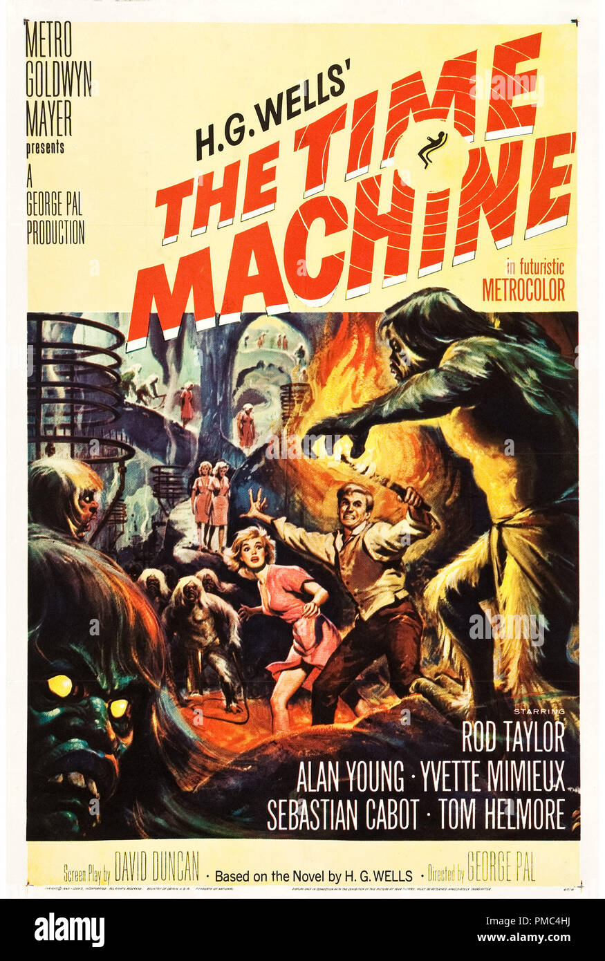 Rod Taylor,  The Time Machine (MGM, 1960). Poster  File Reference # 33595_791THA - Stock Image