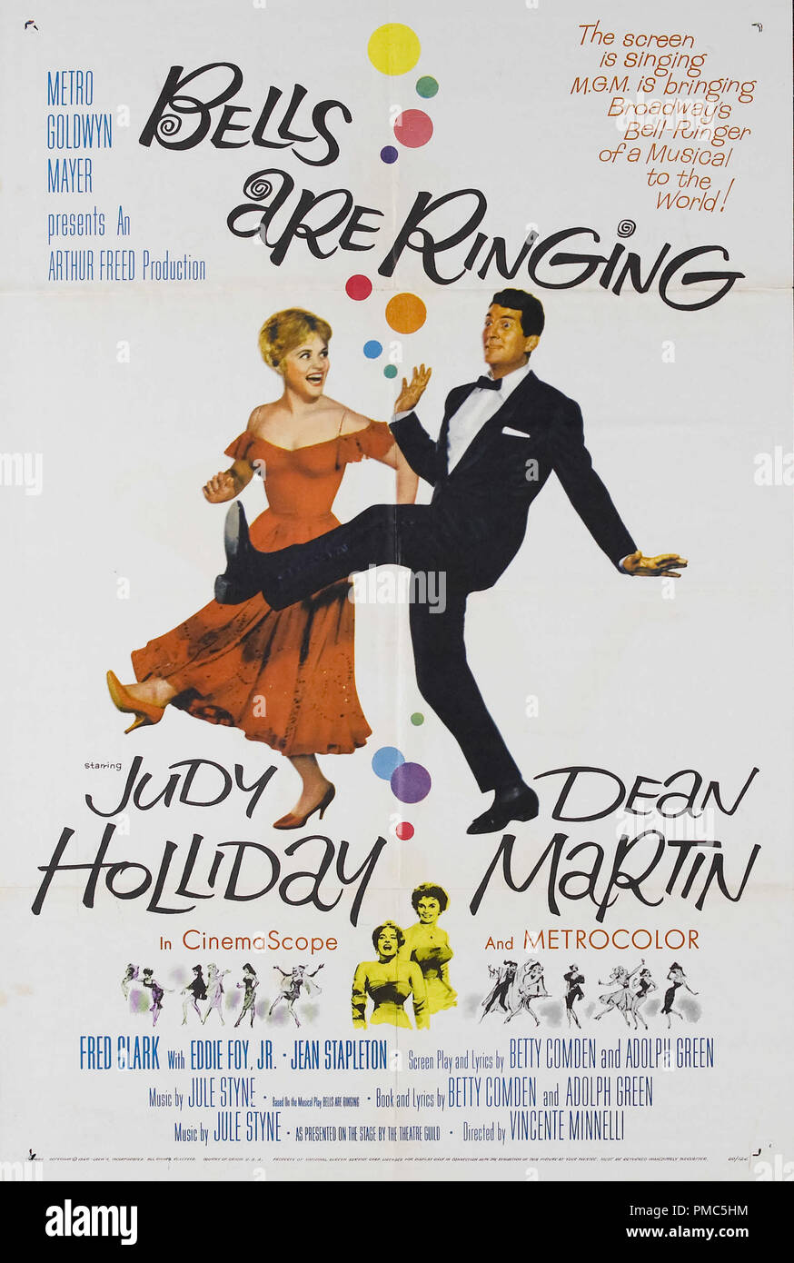 Dean Martin, Judy Holliday,  Bells Are Ringing (MGM, 1960). Poster   File Reference # 33635_096THA - Stock Image