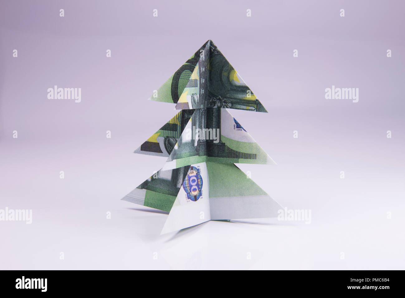 Real One Dollar Bill Origami Art Miniature CHRISTMAS TREE with ... | 957x1300