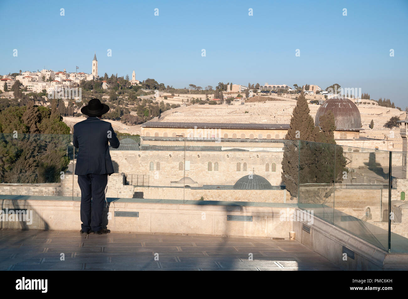 Prayer in Jerusalem old city - Stock Image