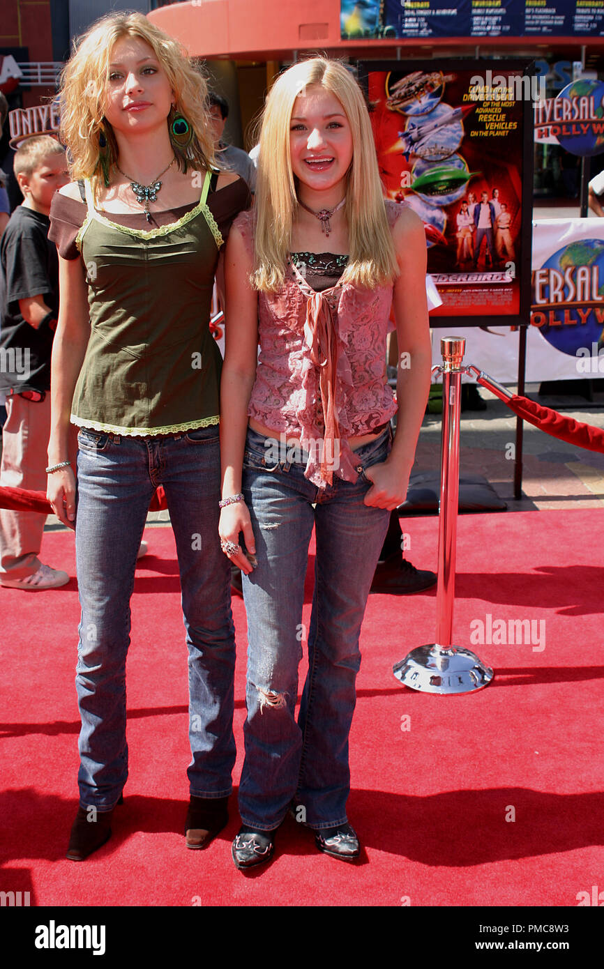 'Thunderbirds' Premiere  7-24-2004 Alyson Michalka, Amanda Michalka Photo by Joseph Martinez - All Rights Reserved  File Reference # 21905_0005PLX  For Editorial Use Only - - Stock Image