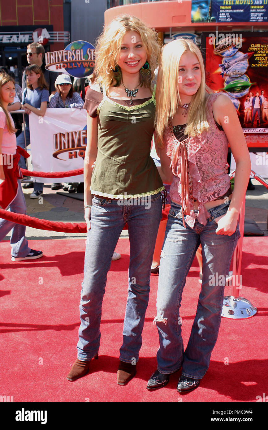'Thunderbirds' Premiere  7-24-2004 Alyson Michalka, Amanda Michalka Photo by Joseph Martinez - All Rights Reserved  File Reference # 21905_0007PLX  For Editorial Use Only - - Stock Image