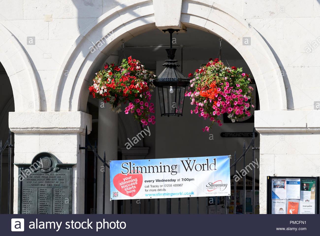 Town hall  Slimming World venue, Blandford, Dorset, England, UK - Stock Image