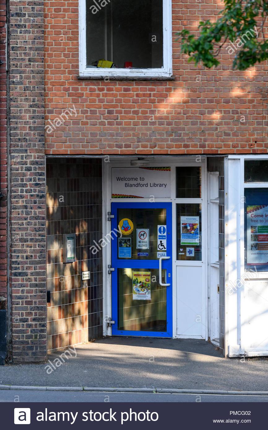Local library, Blandford, Dorset, England, UK Stock Photo