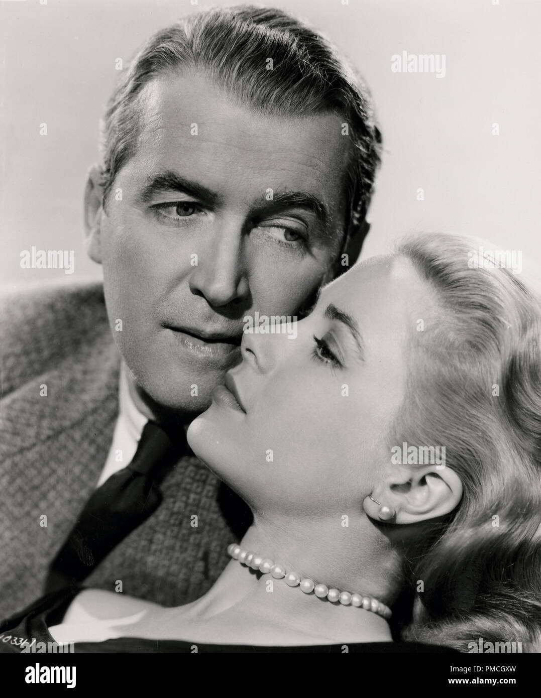 James Stewart, Grace Kelly,  in 'Rear Window' (Paramount, 1954).   File Reference # 33635_196THA - Stock Image