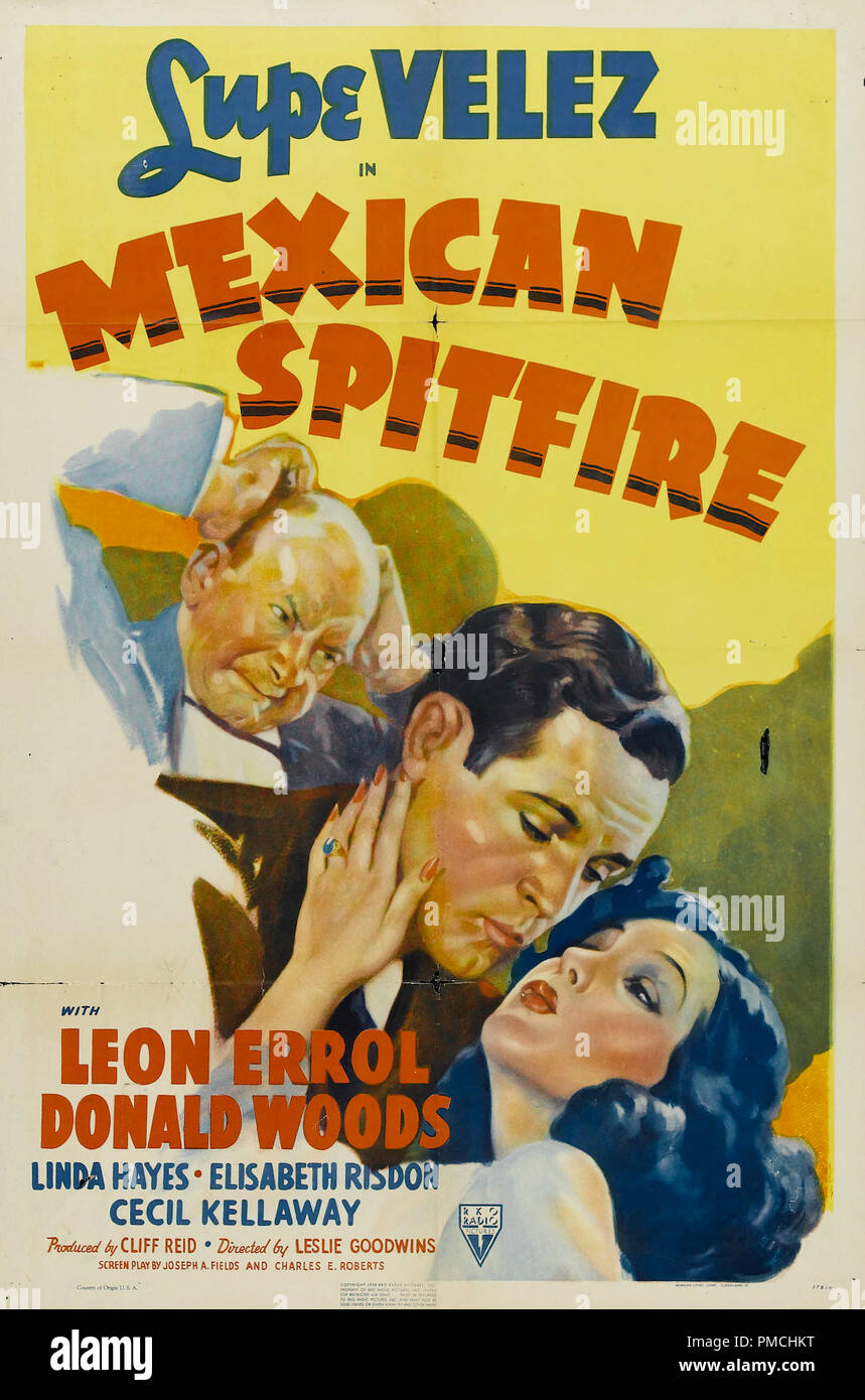 Lupe Velez,  Mexican Spitfire (RKO, 1940). Poster  File Reference # 33636_605THA - Stock Image