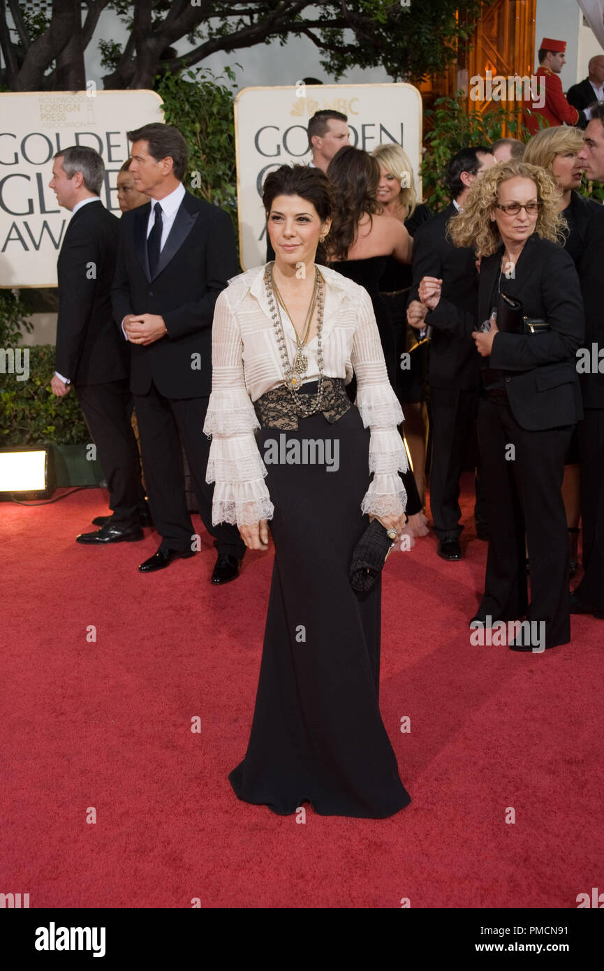 The Hollywood Foreign Press Association Presents 'The Golden Globe Awards - 66th Annual' Marisa Tomei 1-11-2009 - Stock Image