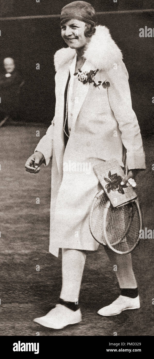 EDITORIAL  Betty May Nuthall Shoemaker, née Nuthall,1911 – 1983.  English tennis player.  From These Tremendous Years, published 1938. - Stock Image