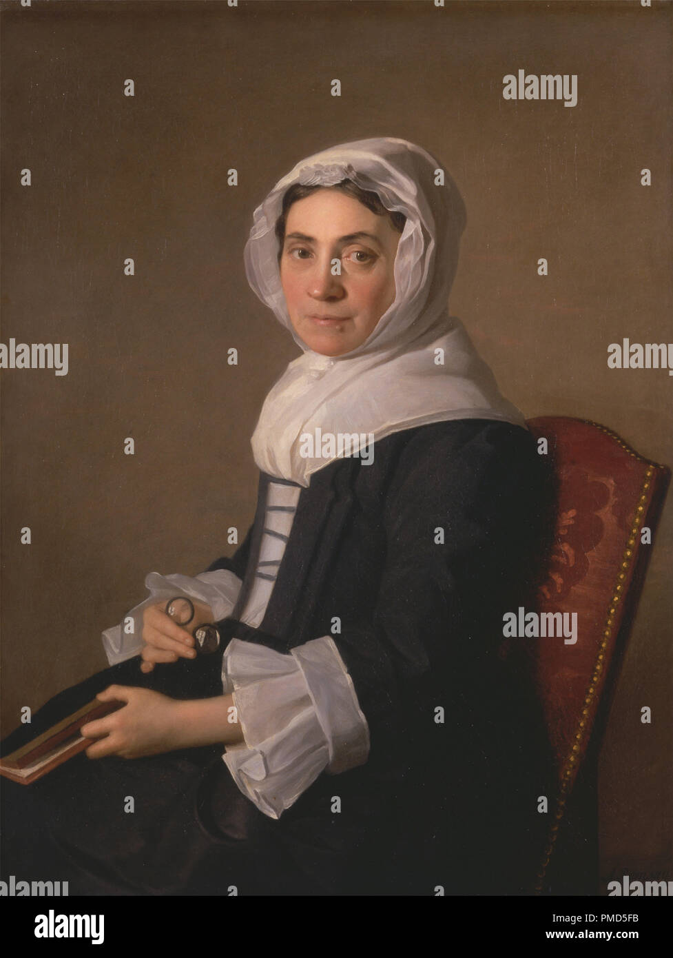 Mary Adam. Date/Period: 1754. Painting. Oil on canvas. Height: 940 mm (37 in); Width: 711 mm (27.99 in). Author: Allan Ramsay. - Stock Image