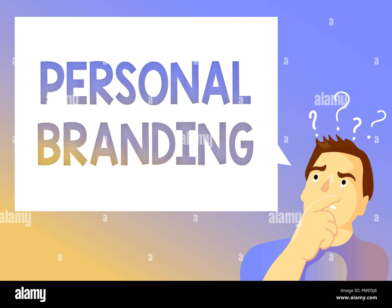 Text sign showing Personal Branding. Conceptual photo Marketing themselves and their careers as brands. - Stock Image