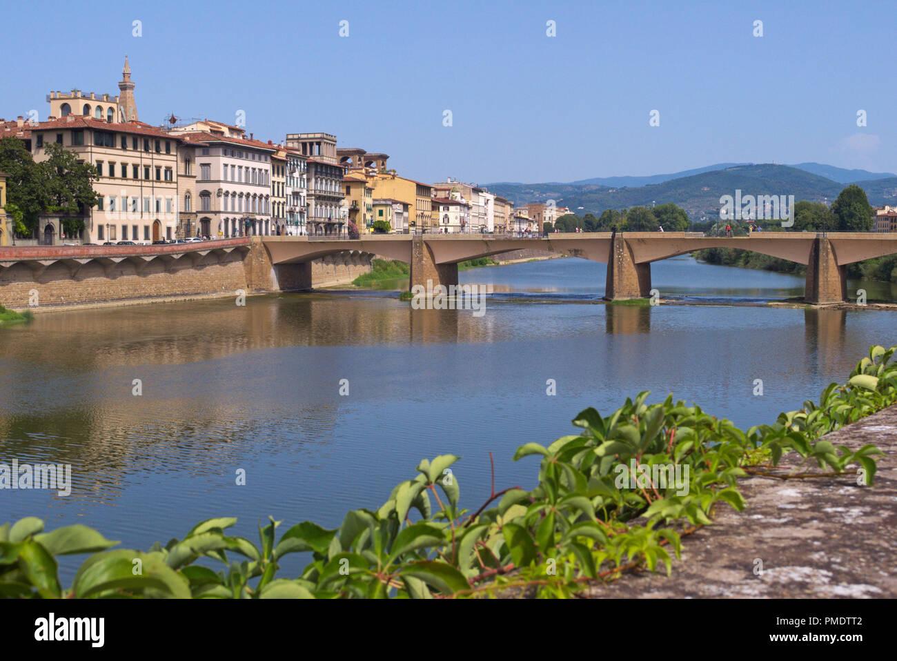 Ponte alle Grazie bridge, Florence, Italy Stock Photo