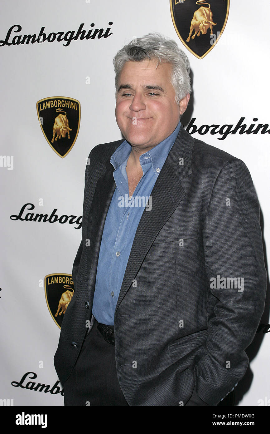 Jay Leno at Lamborghini's Worldwide Debut Party For Their Newest Top Secret Vehicle at the Museum of Television and Radio January 5, 2006 - Beverly Hills, CA Photo by Joseph Martinez - All Rights Reserved   File Reference # 22597_0015PLX  For Editorial Use Only -  All Rights Reserved - Stock Image