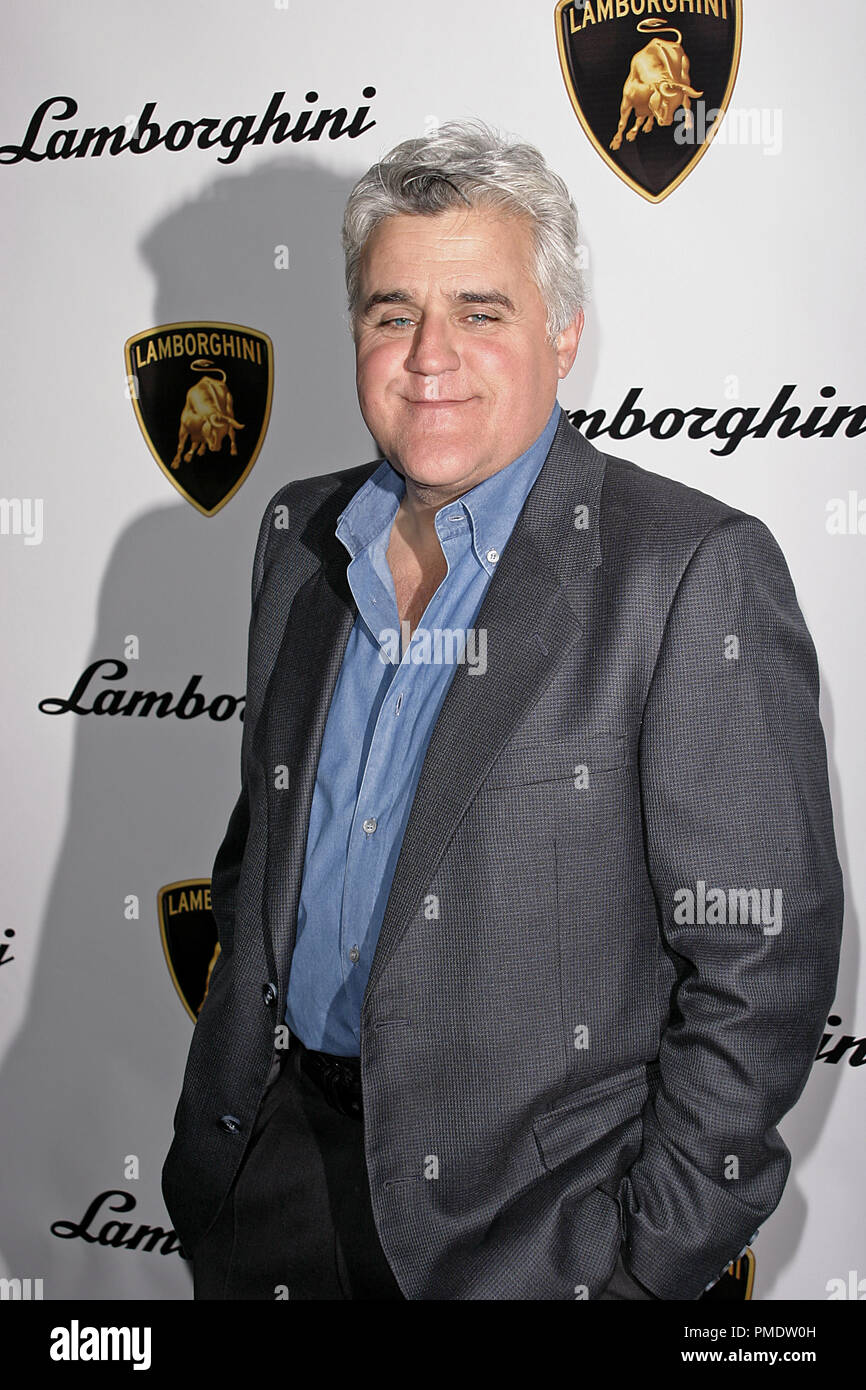 Jay Leno at Lamborghini's Worldwide Debut Party For Their Newest Top Secret Vehicle at the Museum of Television and Radio January 5, 2006 - Beverly Hills, CA Photo by Joseph Martinez - All Rights Reserved   File Reference # 22597_0016PLX  For Editorial Use Only -  All Rights Reserved - Stock Image