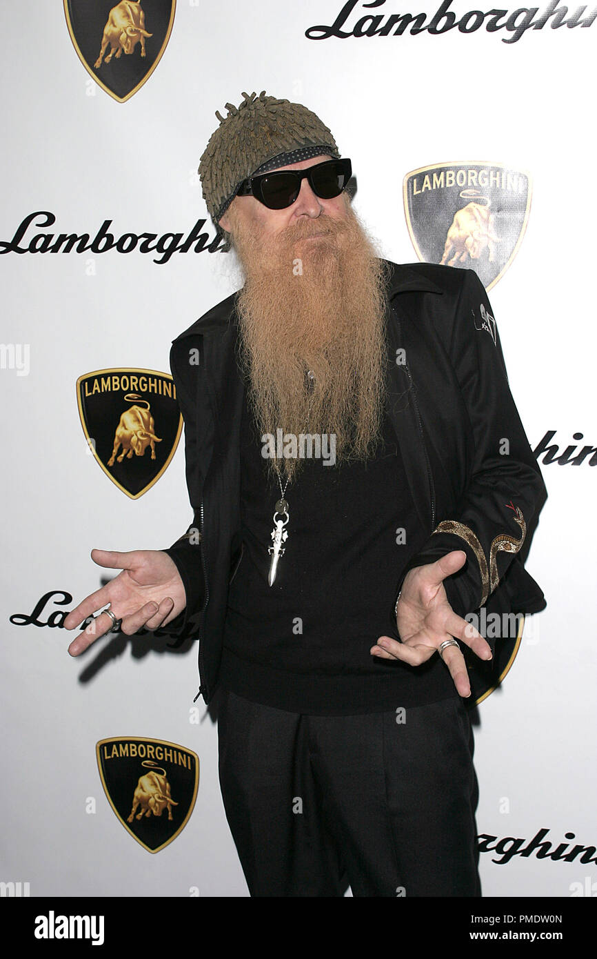 ZZ Top's Billy Gibbons at Lamborghini's Worldwide Debut Party For Their Newest Top Secret Vehicle at the Museum of Television and Radio January 5, 2006 - Beverly Hills, CA Photo by Joseph Martinez - All Rights Reserved   File Reference # 22597_0020PLX  For Editorial Use Only -  All Rights Reserved - Stock Image