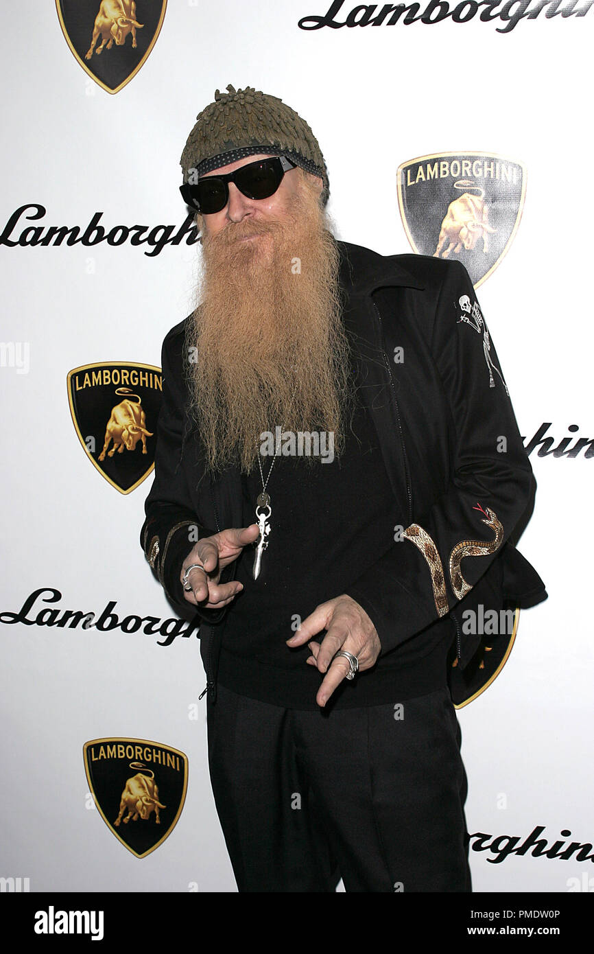ZZ Top's Billy Gibbons at Lamborghini's Worldwide Debut Party For Their Newest Top Secret Vehicle at the Museum of Television and Radio January 5, 2006 - Beverly Hills, CA Photo by Joseph Martinez - All Rights Reserved   File Reference # 22597_0021PLX  For Editorial Use Only -  All Rights Reserved - Stock Image