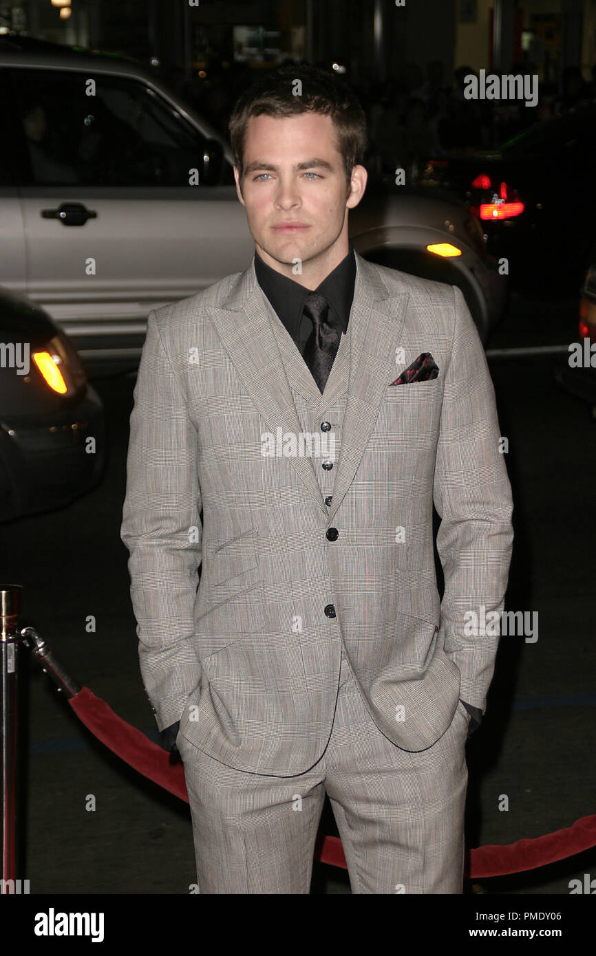 'Smokin' Aces' (Premiere) Chris Pine 1-18-2007 / Grauman's Chinese Theater / Hollywood, CA / Universal Pictures / Photo by Joseph Martinez - All Rights Reserved  File Reference # 22905_0017PLX  For Editorial Use Only - - Stock Image