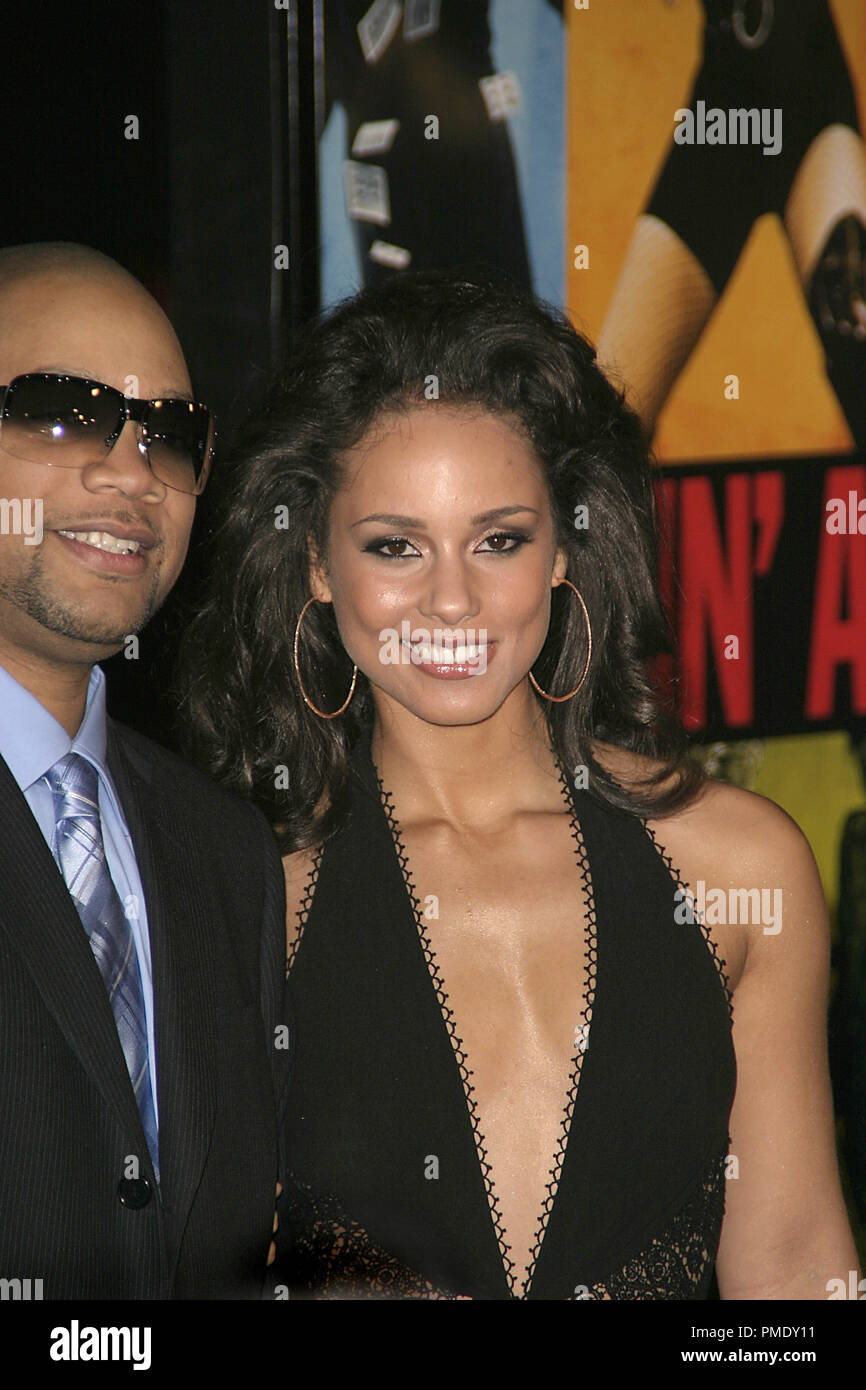 Smokin' Aces (Premiere) Kerry Brothers, Alicia Keys 1-18-2007 / Grauman's Chinese Theater / Hollywood, CA / Universal Pictures / Photo by Joseph Martinez - All Rights Reserved  File Reference # 22905_0033PLX  For Editorial Use Only - - Stock Image