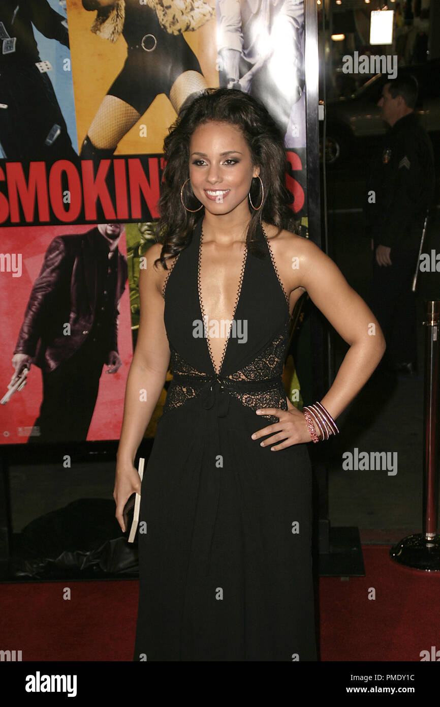 'Smokin' Aces' (Premiere) Alicia Keys 1-18-2007 / Grauman's Chinese Theater / Hollywood, CA / Universal Pictures / Photo by Joseph Martinez - All Rights Reserved  File Reference # 22905_0041PLX  For Editorial Use Only - - Stock Image