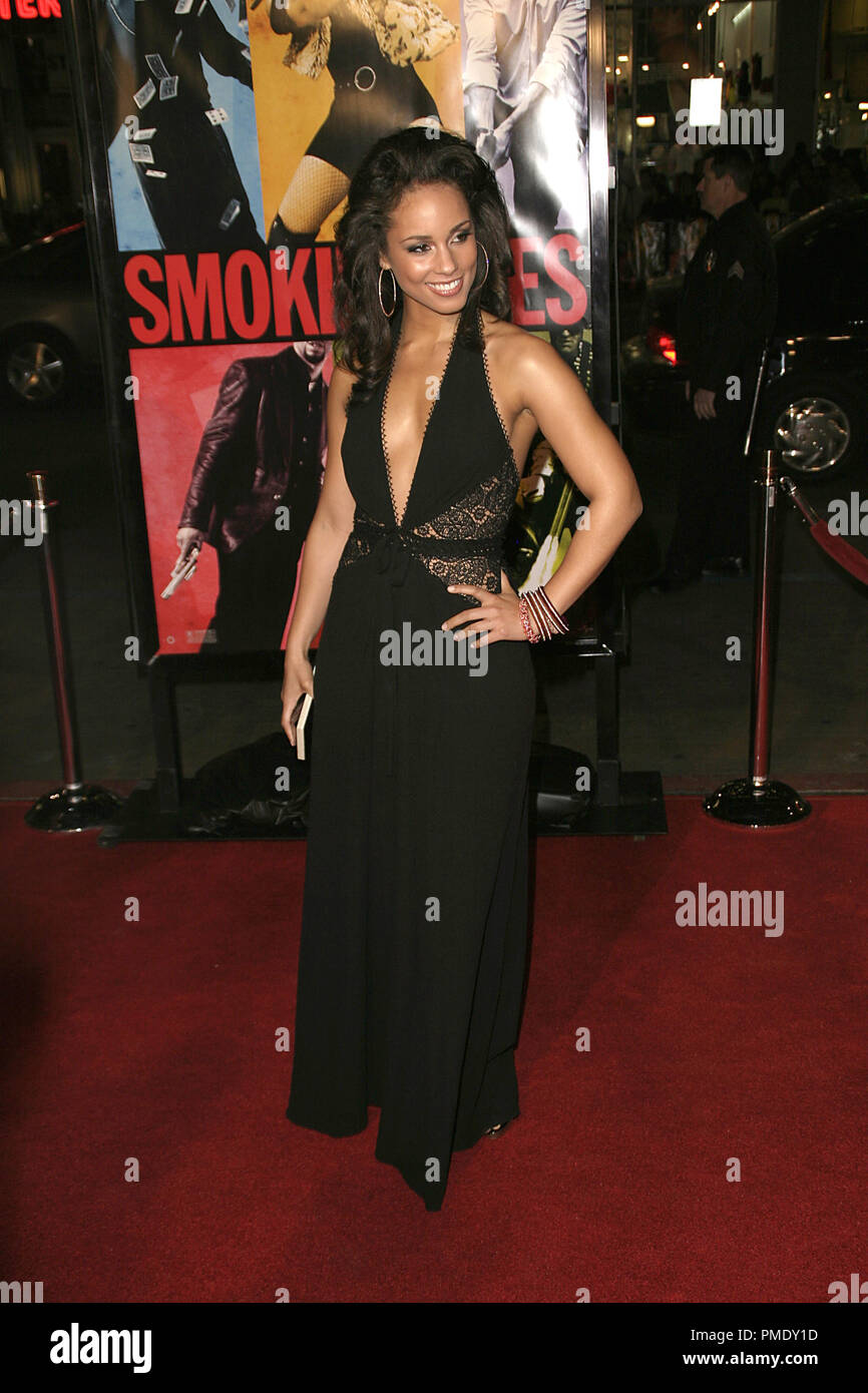 'Smokin' Aces' (Premiere) Alicia Keys 1-18-2007 / Grauman's Chinese Theater / Hollywood, CA / Universal Pictures / Photo by Joseph Martinez - All Rights Reserved  File Reference # 22905_0042PLX  For Editorial Use Only - - Stock Image