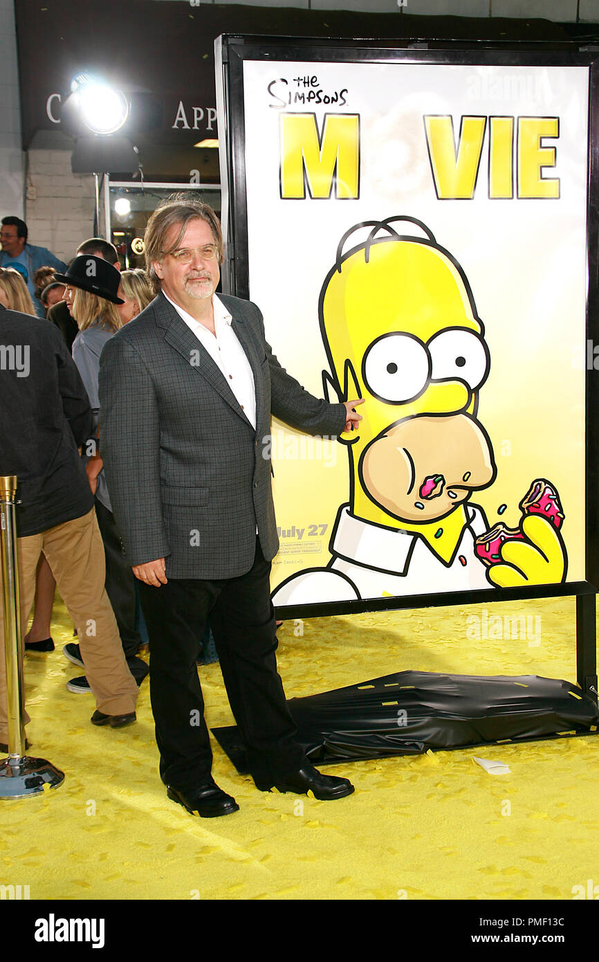 The Simpsons Movie Premiere Matt Groening 7 24 2007 Mann Bruin And Mann Village Theatre Westwood Ca 20th Century Fox Photo By Joseph Martinez File Reference 23133 0043jm For Editorial Use Only Stock Photo Alamy