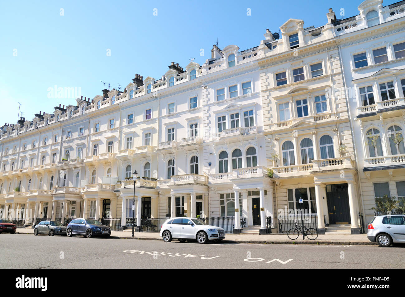 Queens Gate Terrace, South Kensington, Royal Borough of Kensington and Chelsea, London SW7, England, UK - Stock Image