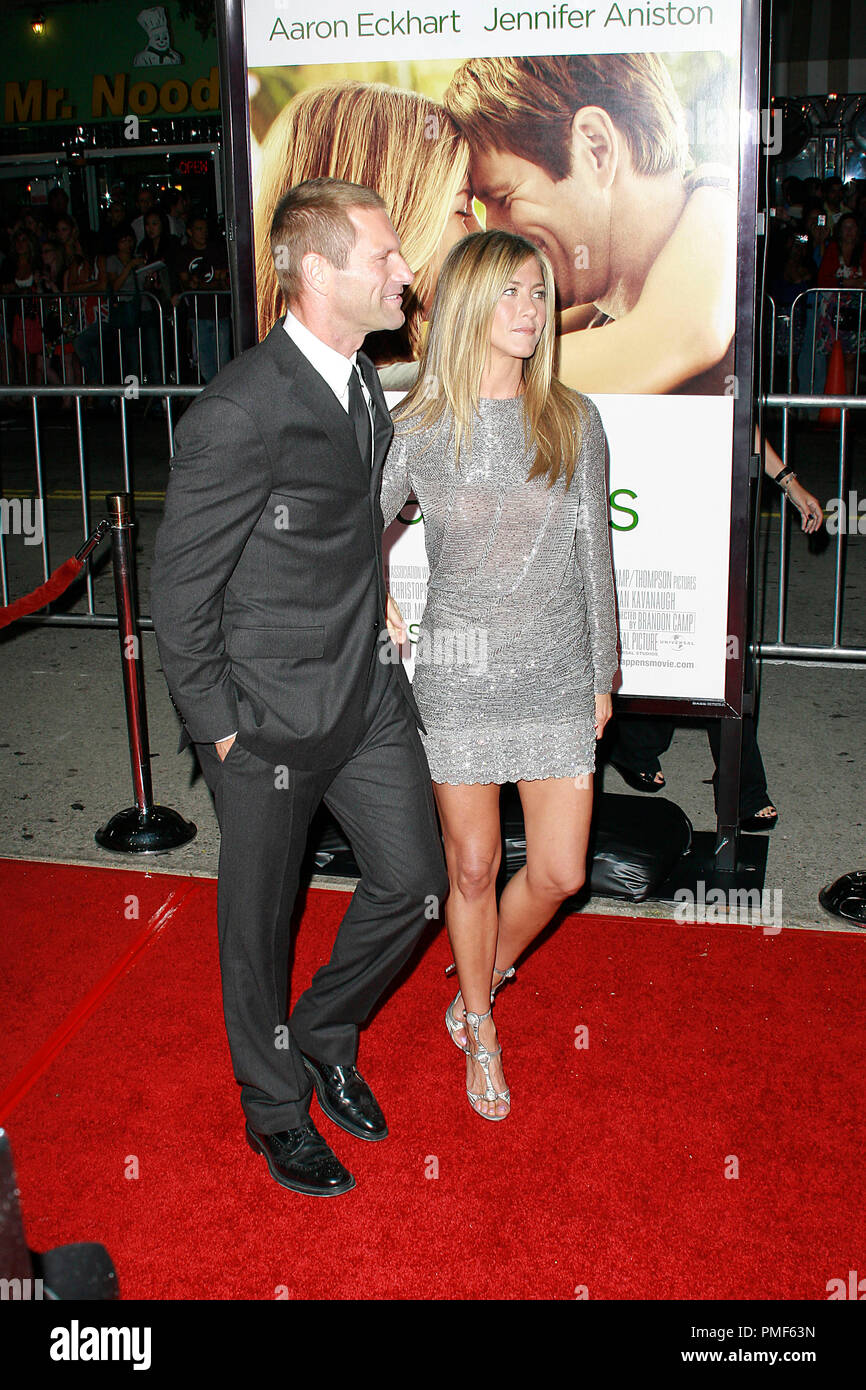 Shiny Mini Dress Stock Photos Images Alamy Larissa Green Leux Studio Aaron Eckhart And Jennifer Aniston At The World Premiere Of Universal Pictures Love Happens