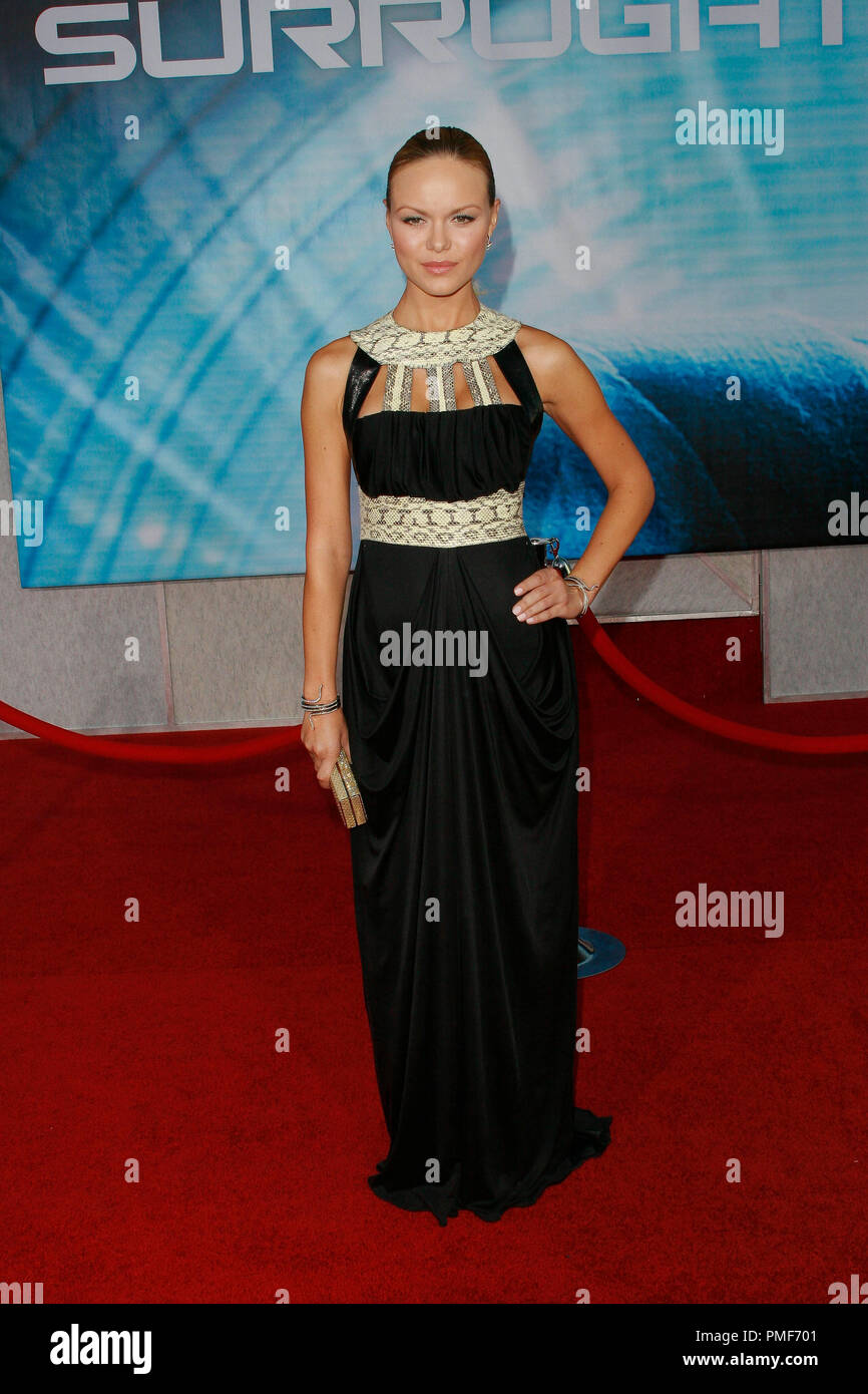 Anya Monzikova at Touchstone Pictures' 'Surrogates' Premiere. Arrivals held at the El Capitan Theatre in Hollywood, CA September 24, 2009.  Photo by: Joseph Martinez / PictureLux File Reference # 30078_23JM   For Editorial Use Only - - Stock Image