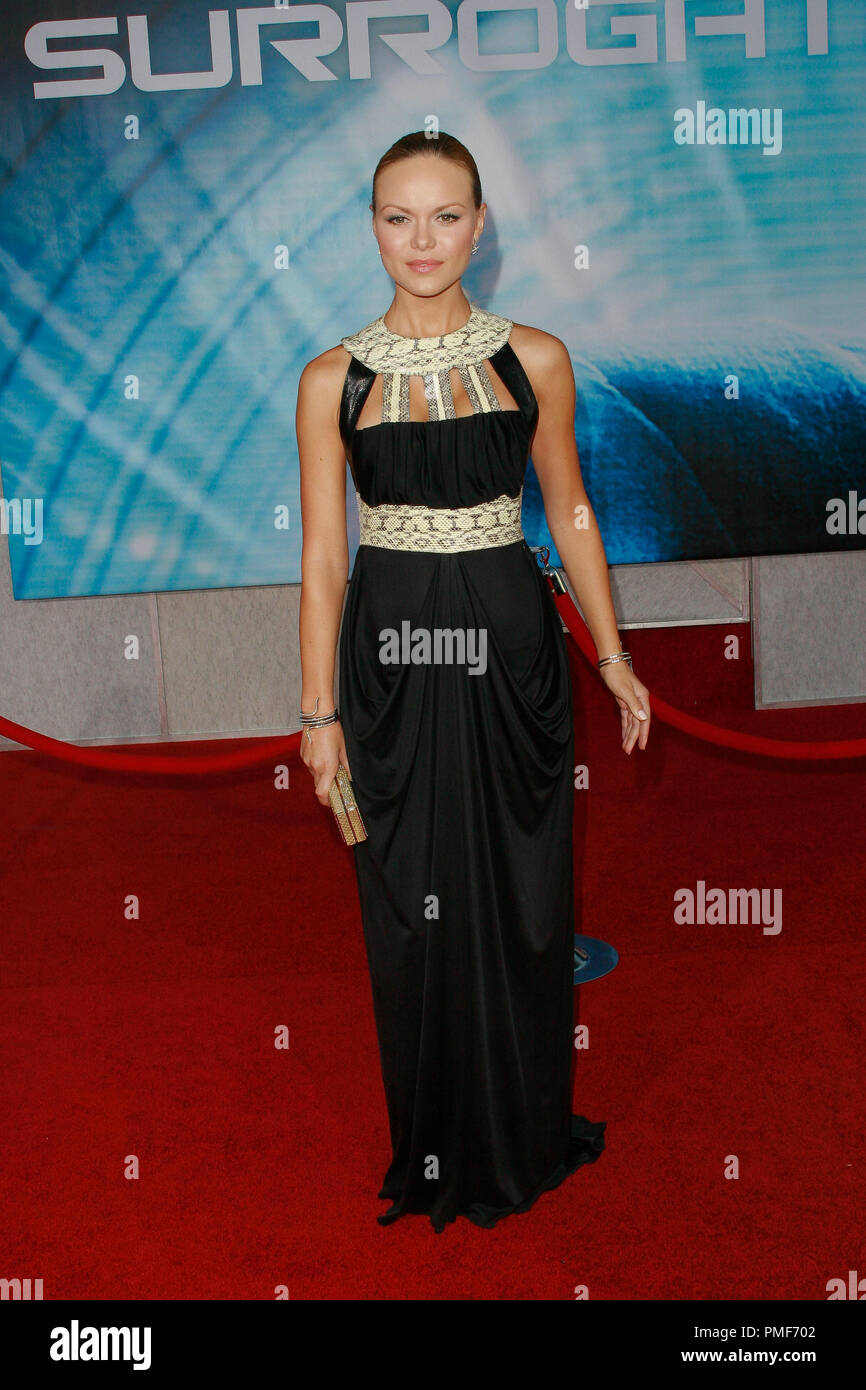 Anya Monzikova at Touchstone Pictures' 'Surrogates' Premiere. Arrivals held at the El Capitan Theatre in Hollywood, CA September 24, 2009.  Photo by: Joseph Martinez / PictureLux File Reference # 30078_24JM   For Editorial Use Only - - Stock Image