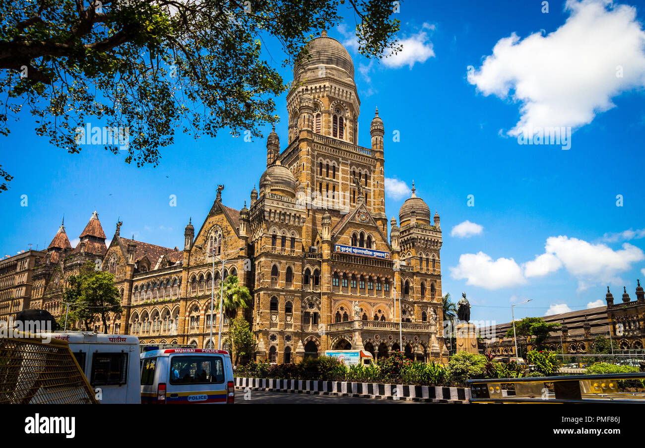 Municipal Corporation of Greater Mumbai, also known as Brihanmumbai Municipal Corporation. It is India's richest municipal corporation. - Stock Image