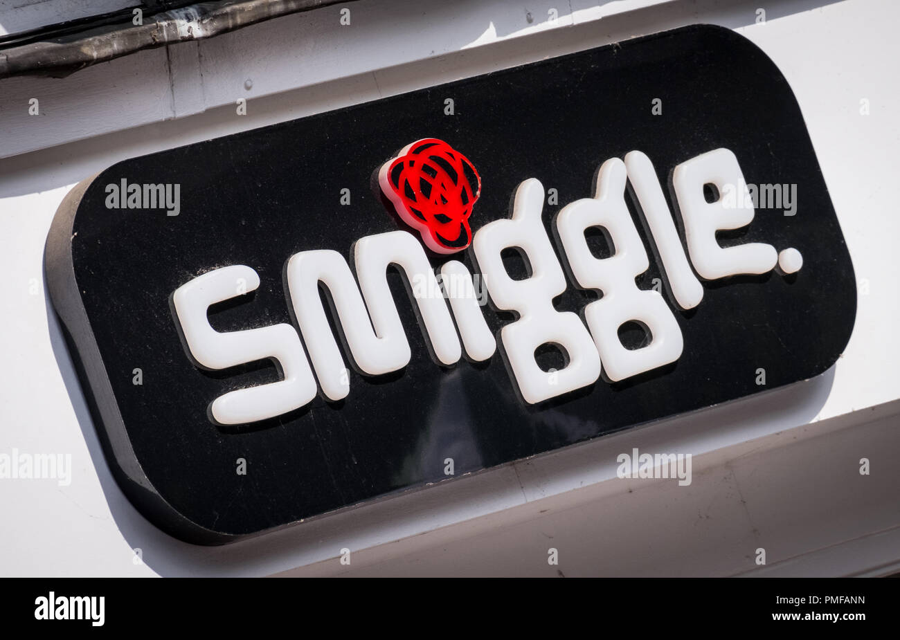 Smiggle store sign - Stock Image