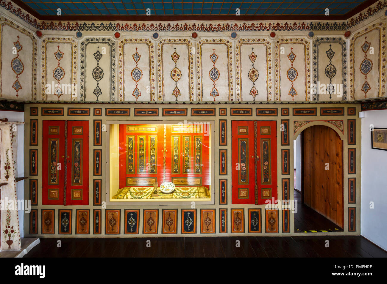 Kosice, Slovakia - August 11, 2018: Reconstruction of a house with original interior of the dining room from Rakoczi's exile house in Turkey. - Stock Image