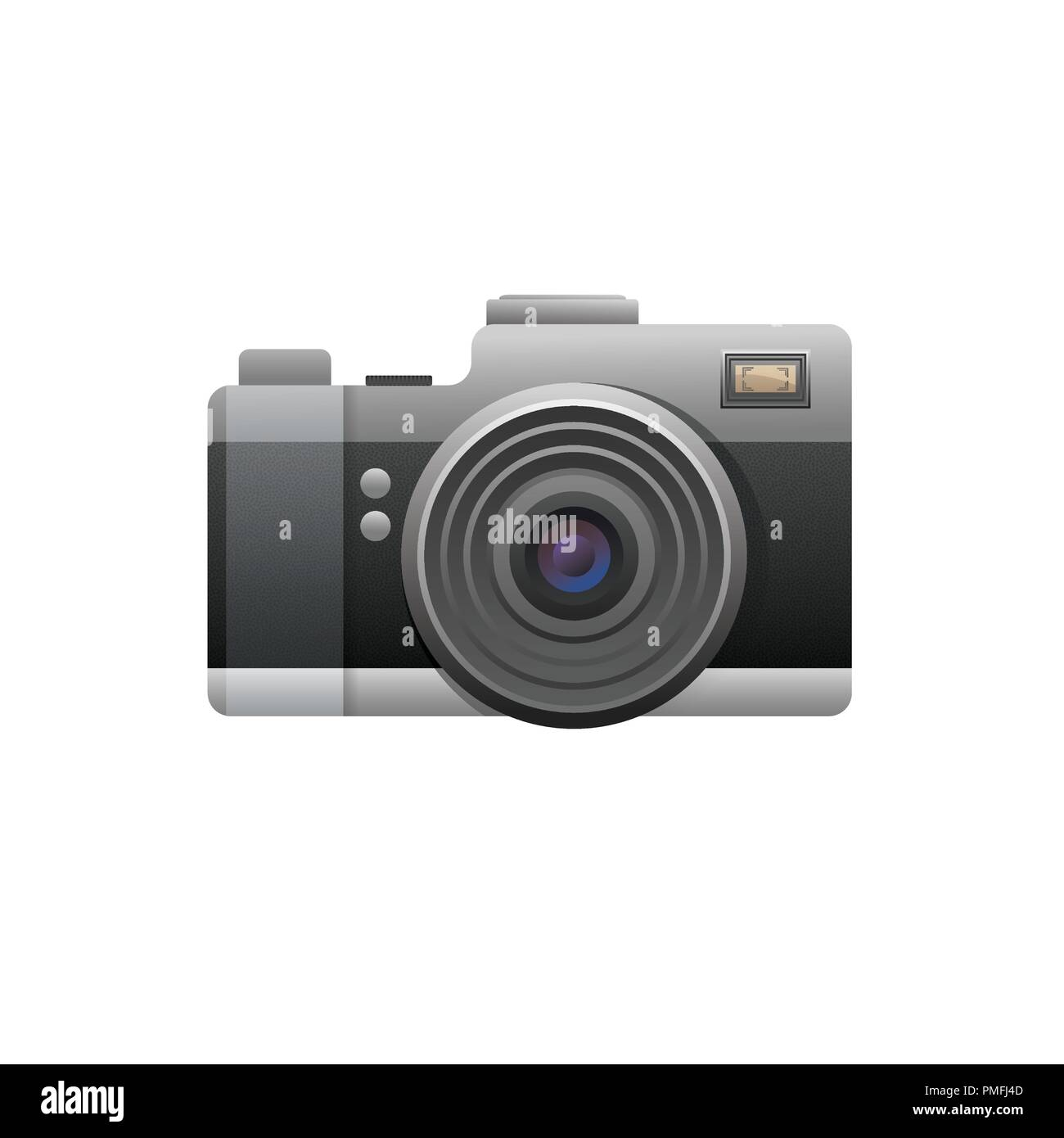 Web camera black on white background. Illustration - Stock Vector