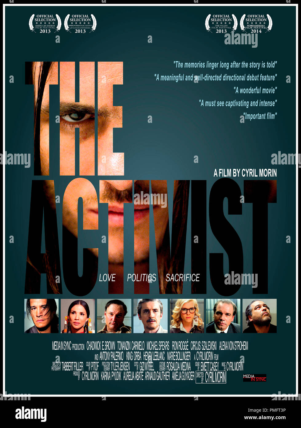 Prod DB © Media in Sync / DR THE ACTIVIST de Cyril Morin 2014 USA/FRA. affiche americaine - Stock Image