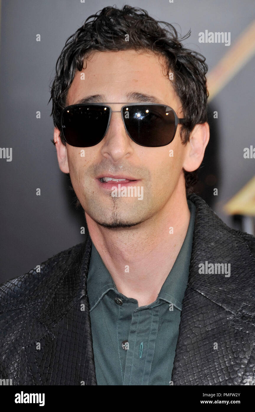 Adrien Brody at the World Premiere of 'IRON MAN 2' held at the El Capitan Theatre in Hollywood, CA on Monday, April 26, 2010. Photo by PRPP_Pacific Rim Photo Press. File Reference # 30201_072PLX   For Editorial Use Only -  All Rights Reserved - Stock Image