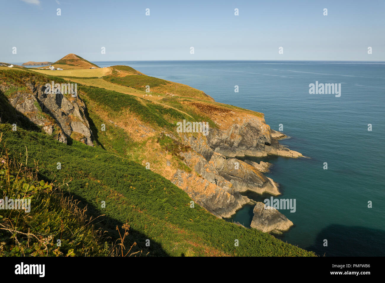 The historic Chapel The Church of the Holy Cross,  Eglwys y Grog ;Welsh: at  Mwnt,  in south Ceredigion, Wales, UK. - Stock Image