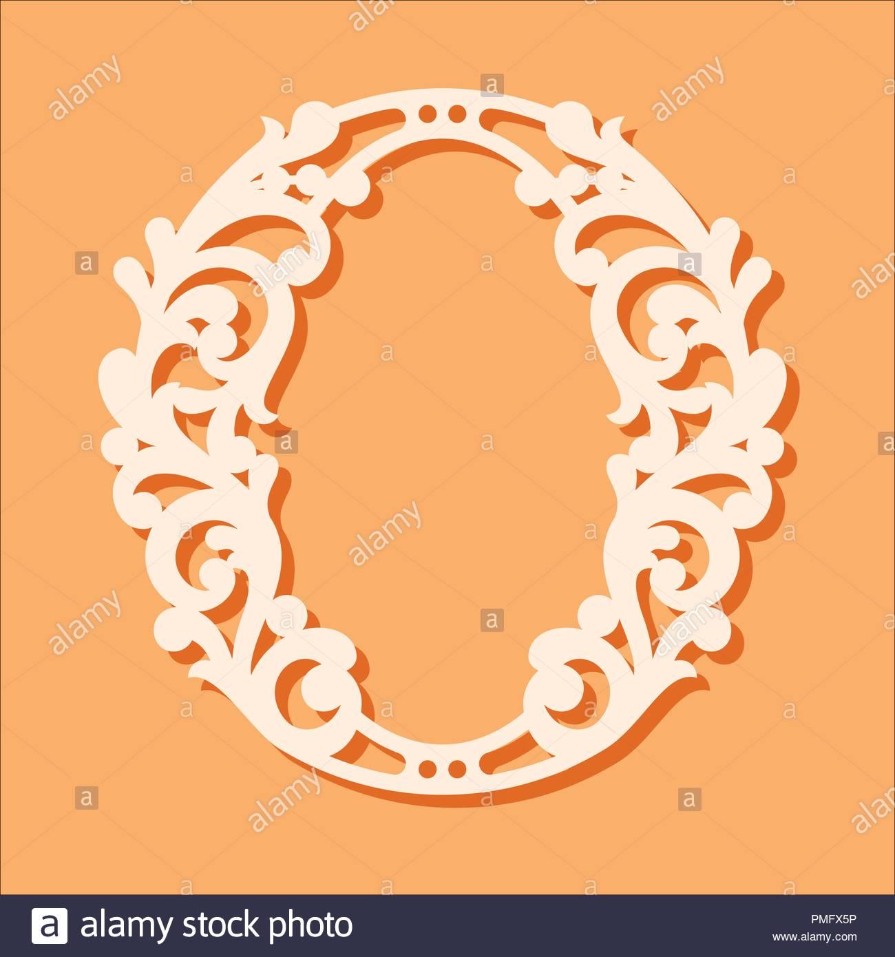 laser cut template. initial monogram letters. fancy floral alphabet