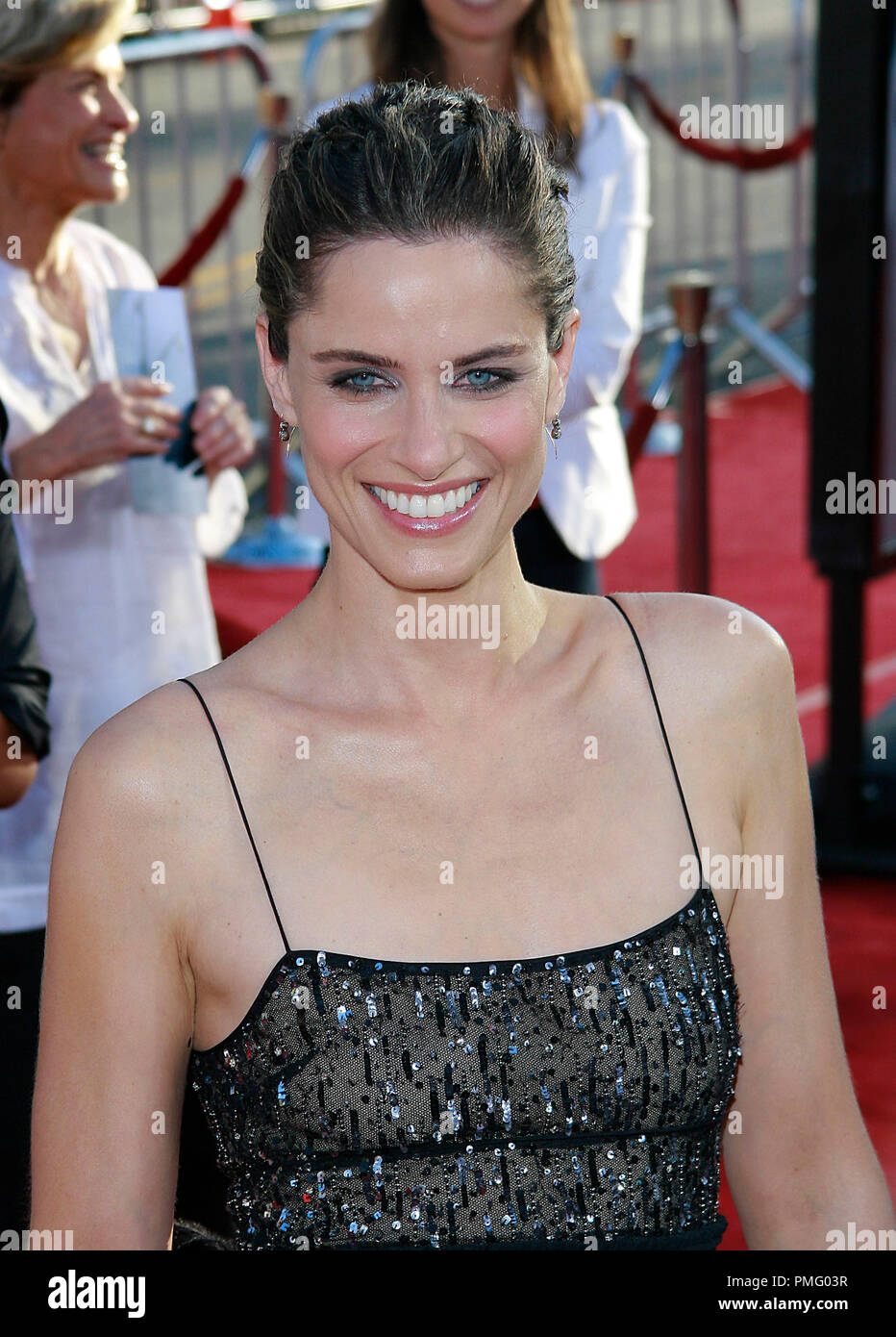 The X-Files: I Want to Believe Premiere  Amanda Peet  7-23-2008 / Mann's Grauman Chinese Theatre / Hollywood, CA / 20th Century Fox / Photo © Joseph Martinez / Picturelux  File Reference # 23571_0069JM   For Editorial Use Only -  All Rights Reserved - Stock Image